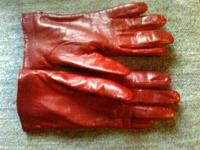 Ladies Leather Gloves Size Medium Color: Red $6.00 CASH