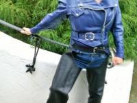 Custom made Vanson motorcycle jacket, size 12 ,