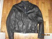 Ladies XL Hudson Leather coat, has zip out liner, only