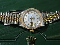 Lovely Ladies ROLEX! Mama of Pearl Diamond Dial Diamond