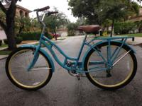 "Ladies 26"" 7 Speed Cruiser Bike in almost perfect"