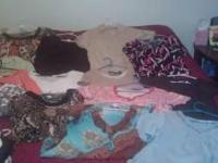 Ladies clothes. Most shirts some dress slacks. XL