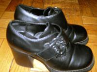 Ladies Black Shoes with/ buckles. Size 7. Excellent