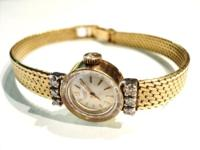 "Ladies Universal Geneve 18kt Gold Diamonds 61/2"" Band"