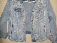 Ladies Vanity Jean Jacket  XL but fits like a L Button
