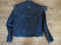 Ladies Willie G Leather Jacket w/Zip out lining 38W