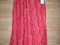 Red Straw skirt, One size fits all - Brand new from