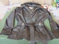 Very nice Ladies SZ. L. Jacket with tie belt and rivets