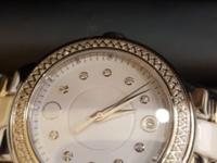 LDS Diamond MOVADO white dial and bracelet 28mm , brand