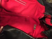 Lady's or Teens reversible coat. One side red with
