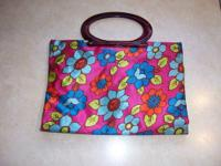 Lady?s Pride Vintage Handbag Shopping Tote All snap two