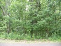 .34 acre Nice woody lot, sloping for walkout basement