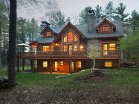 Custom Adirondack style home situated on 968+/- feet of