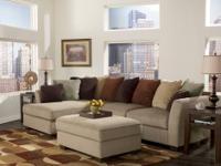 Laken Sectional Large plush seat cushions with a