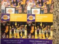 Come see the Lakers play the Bucks on 2/27/15 at 7:30