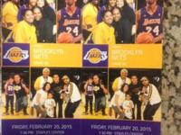 Come view the Lakers play the Nets on 2/20/15 at 7:30