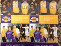 Come watch the Lakers play OKC Thunder Sunday March 1st