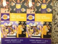 Come view the Lakers play the Trail Blazers on 1/11/15