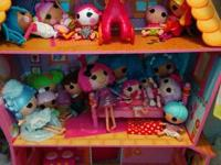 lalaloopsy house with 16 dolls.  selling as set.  $150.