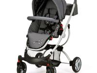 The Lamaze Indigo Stroller in Grey/Black, Euro styled