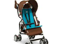 The Lamaze LS 50 Lightweight Stroller in Brown/Teal,