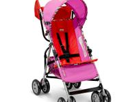 The Lamaze LS 50 Lightweight Stroller in Pink/Red,
