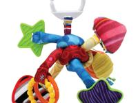 The Lamaze Tug and Play Knot is perfect for grabbing,