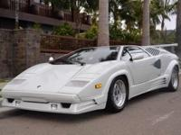 This 1989 Lamborghini Countach 2dr Coupe features a