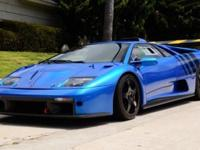 This 2000 Lamborghini Diablo GTR Coupe features a 6.0L