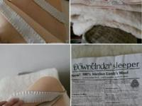 I HAVE TWO Merino lambs wool crib mattress covers from