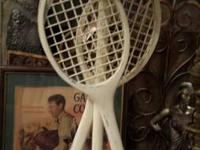 Lamp (Tennis Rackets) $35. Very Cute! Call (