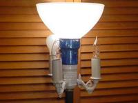 antique magnate floor light with upgraded electrical