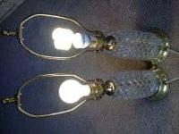 I have three sets of very old crystal lamps. In each