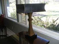 LAMP - Square grained leather shade - one-of-a-kind New