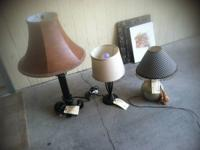 Different style lamps. 90621threeone