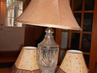 We have several lamps for sale. Two bronze and amber