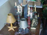 Different lamps, arts, crafts and decorations: $2 and