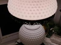 50+ YEAR OLD HOBNAIL SIDE LAMPS BEEN IN FAIMLY IAM 2ND
