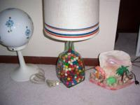 Lamps offered. Tropical night light, adorable, retro.