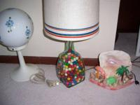 Lamps available. Tropical night light, cute, retro.