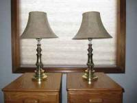 Lamps, three separate matching sets of two each.