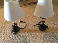 Small lamps in great shape, asking $15 for the pair