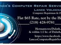 Lance's Computer Repair Services for $65 for all your