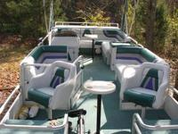 1994 Landau DX24 Pontoon Boat - over size pontoons -