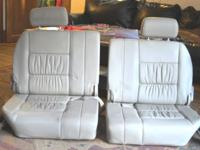Two 3rd row seats from 2000 Toyota Landcruiser, tan