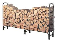Sturdy Steel log rack keeps firewood off the ground and