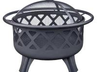 This Crossfire Fire Pit comes with a cooking grate for