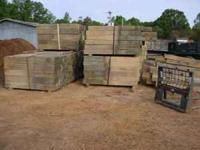 Used but like new Treated Landscape Timbers & Fence