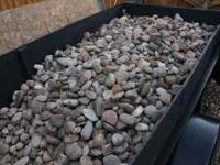 "3""-6"" landscape rock approx 1 1/4 tons. The hard work"