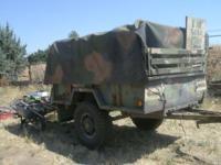 Army Trailer 3/4 ton year 1968 5' x 8 '( tru-cut 5 hp.)